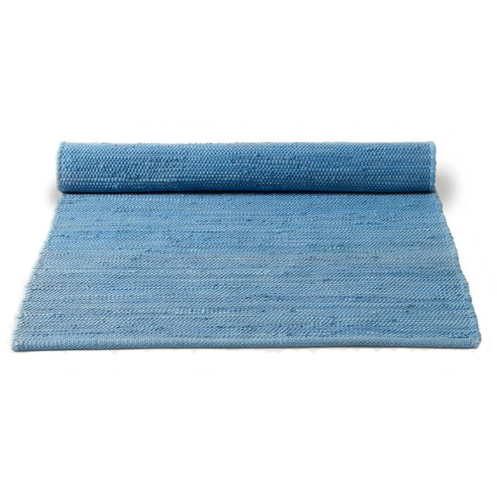 Rug Solid Cotton Matto 65x135, Eternity Blue
