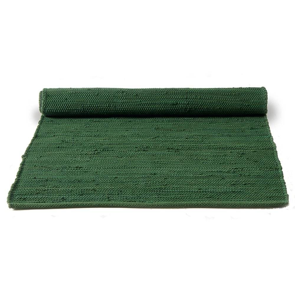 Rug Solid Cotton Matto 65x135, Guilty Green