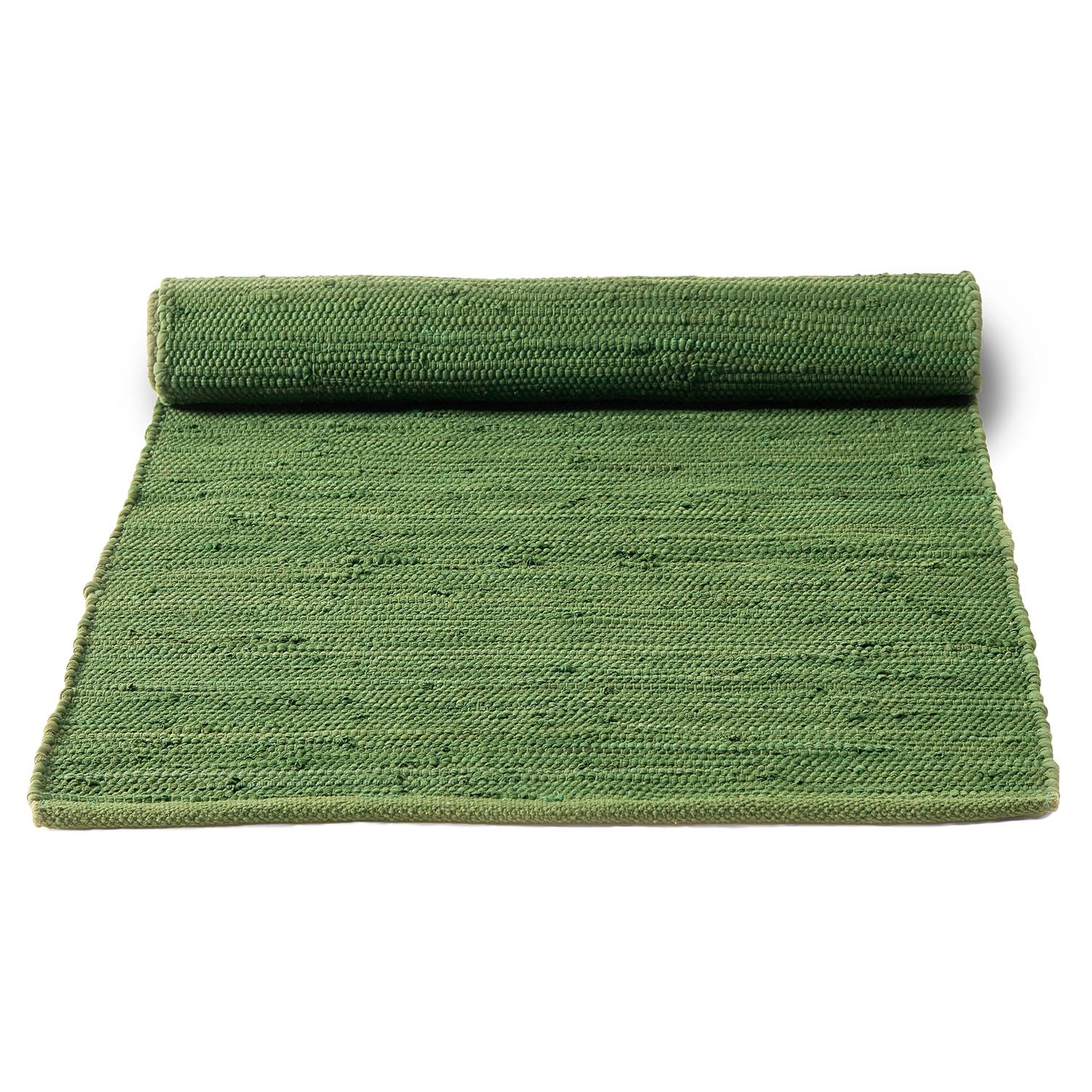 Rug Solid Cotton Matto 70x200cm, Olive Green