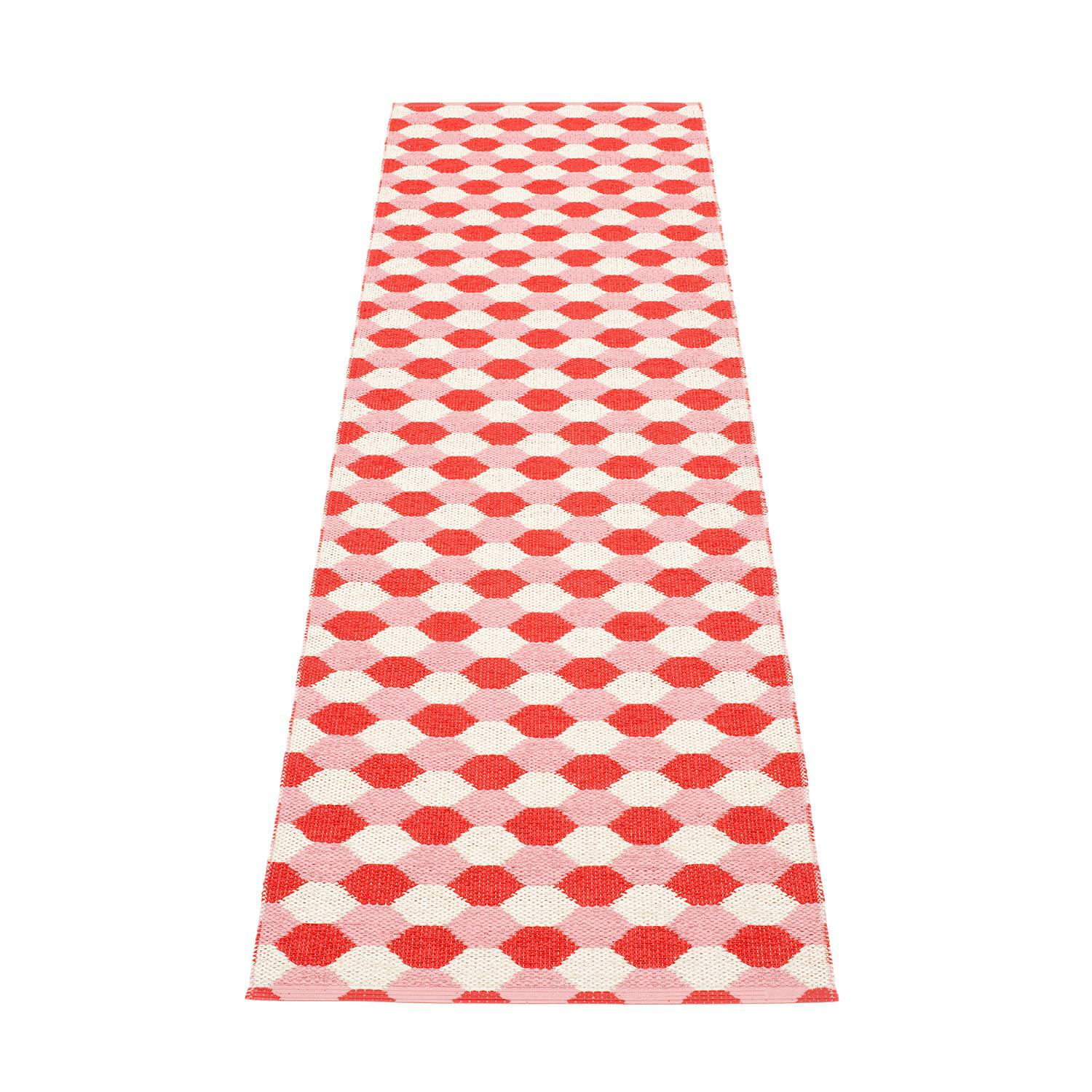 Pappelina Dana Matto 70x250cm, Coral Red/Piglet