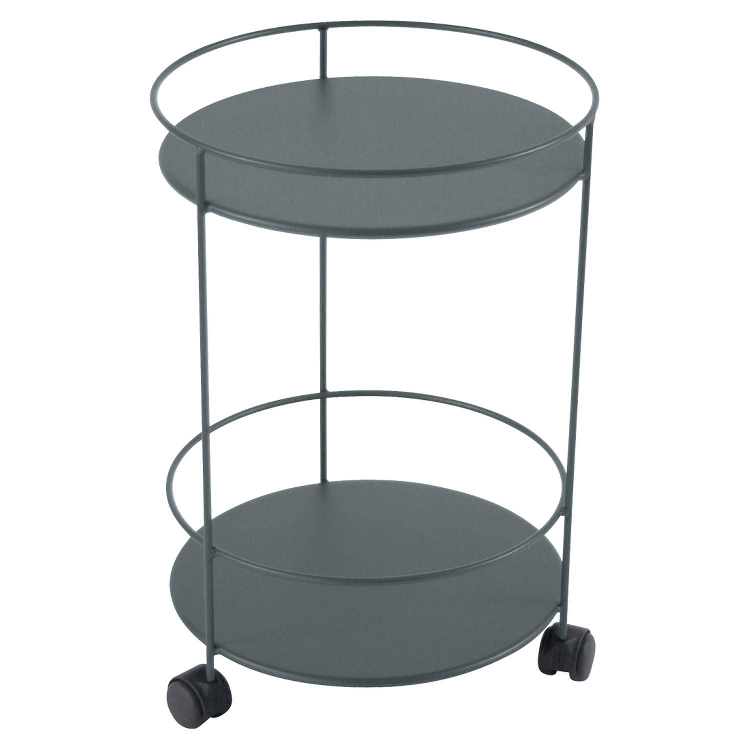 Fermob Small Table Perforated Ø40, Storm grey