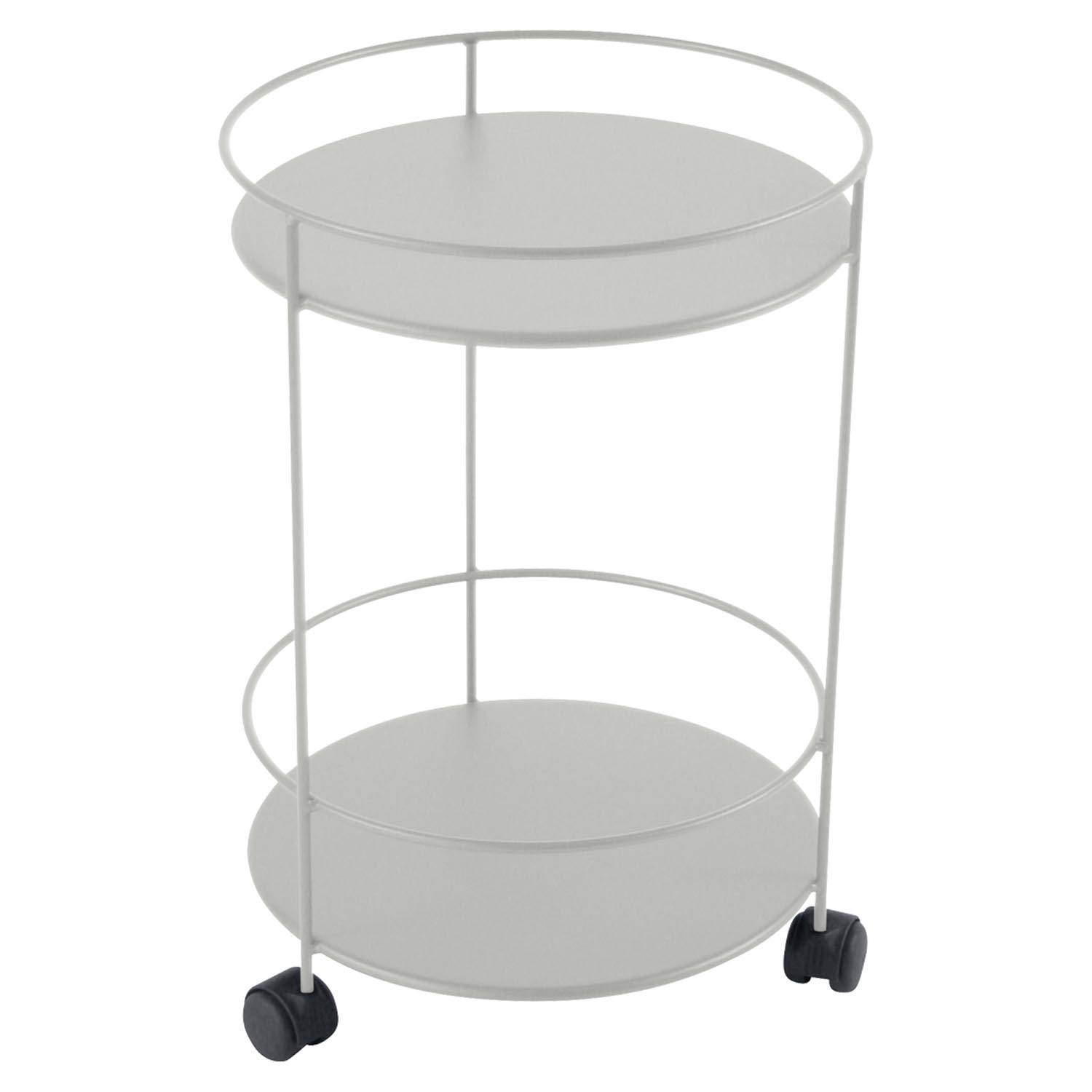 Fermob Small Table Perforated Ø40, Steel grey