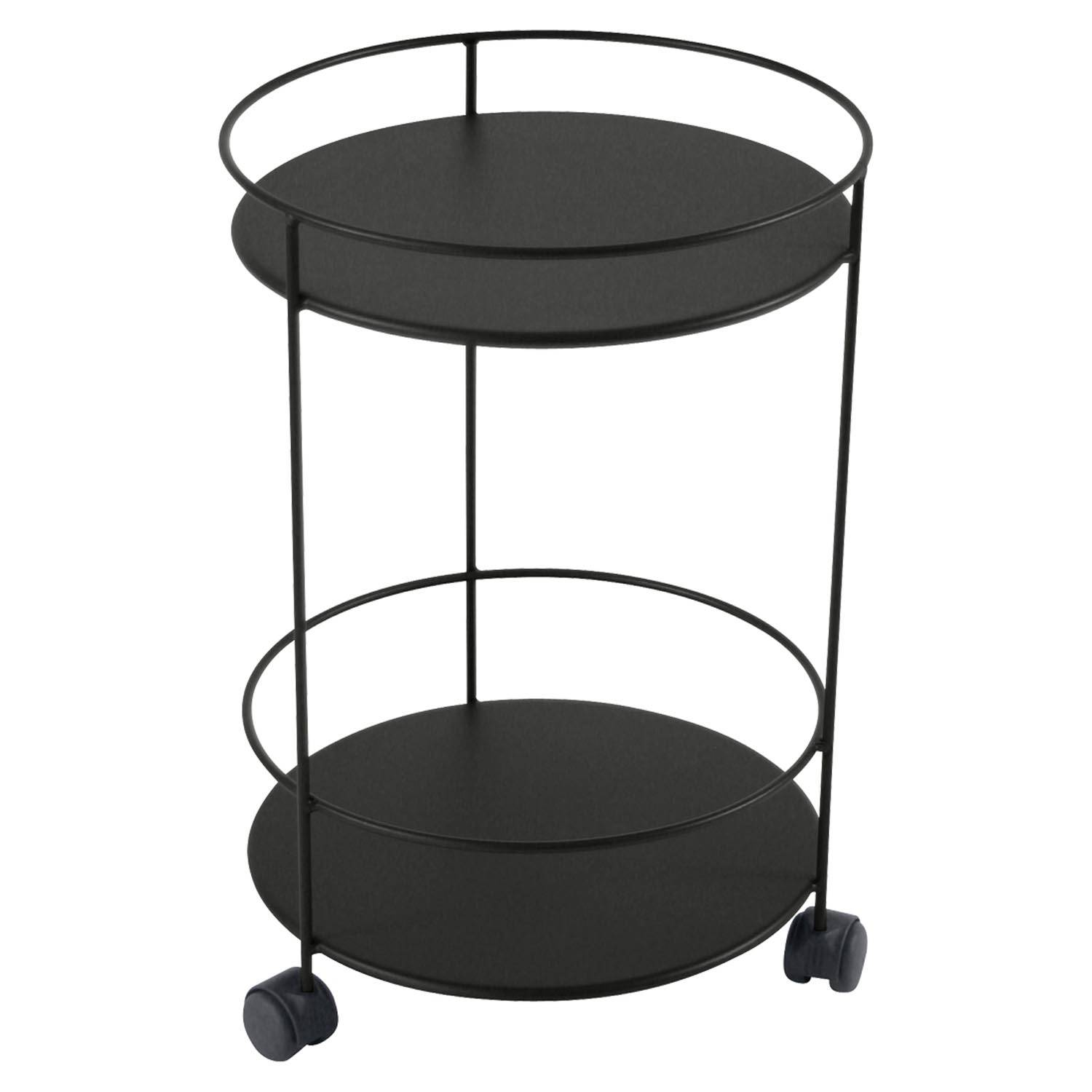 Fermob Small Table Perforated Ø40, Liquorice