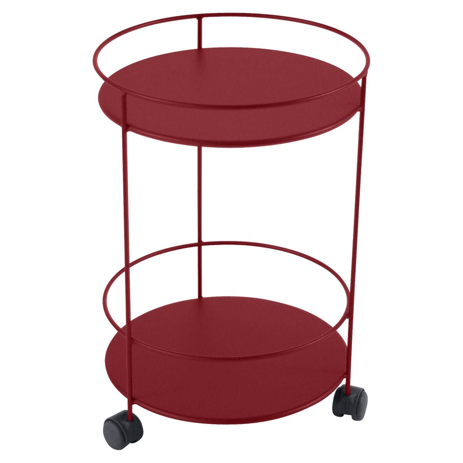 Fermob Small Table Perforated Ø40, Chili
