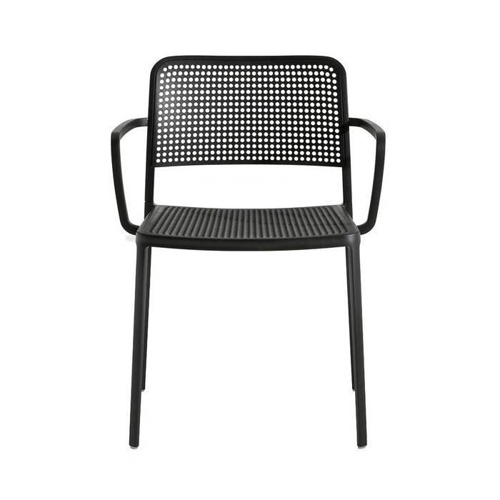Kartell Audrey Chair with armrest, Black
