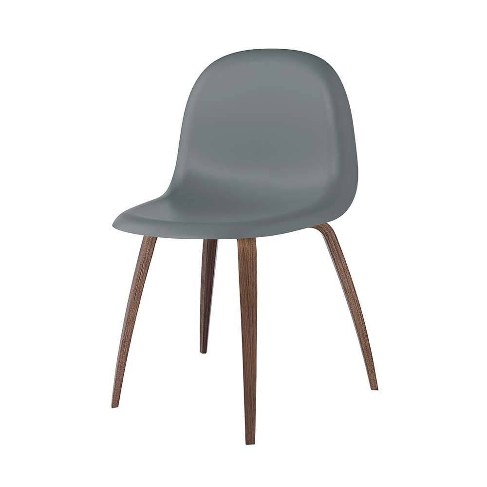 Gubi 3D Tuoli, Walnut/ Rainy Grey