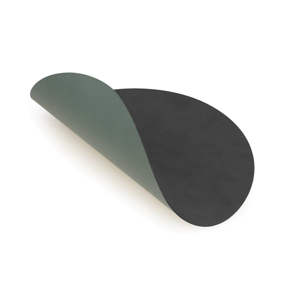 Lind DNA Circle Lasinalunen Ø10cm, Anthracite/Green
