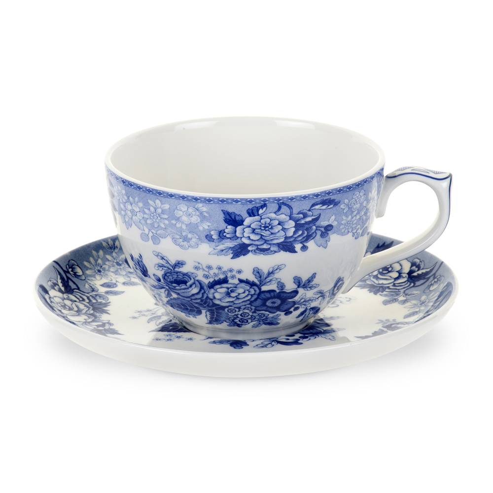 Spode Blue Room Jumbokuppi ja aluslautanen Blue Rose 560 ml