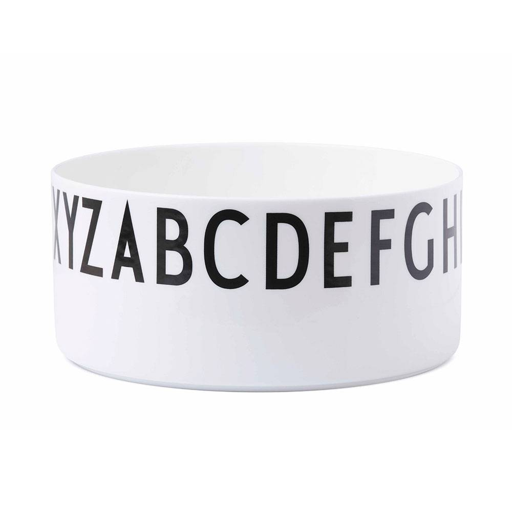 Design Letters Porcelain Bowl, White