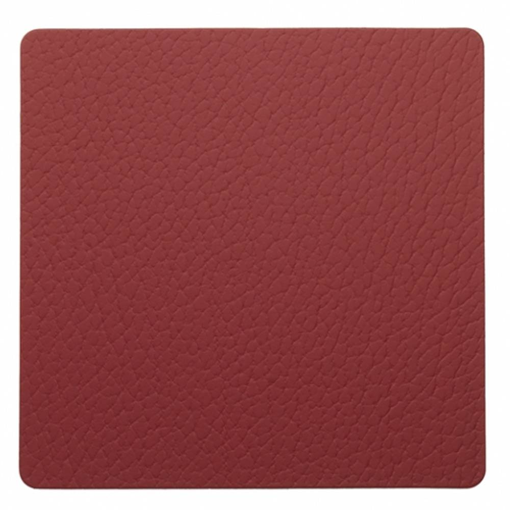 Lind DNA Square Lasinalunen 10x10cm, Bull Red