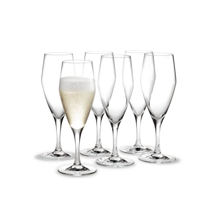 Holmegaard Perfection Champagne 23 cl, 6-pakkaus