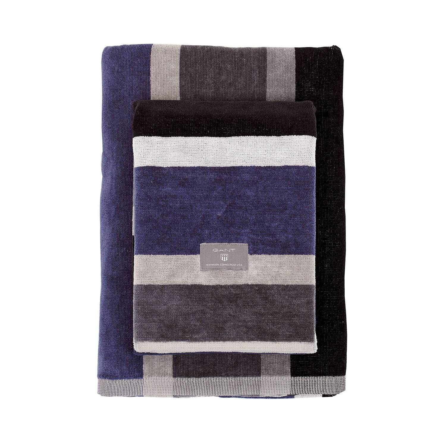 Gant Home Boston Stripe Pyyheliina 50x70cm, Antracite