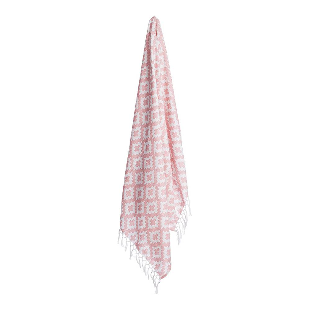 Lidby Living Hamam Cross Pyyhe 100x155cm, Dusty Pink