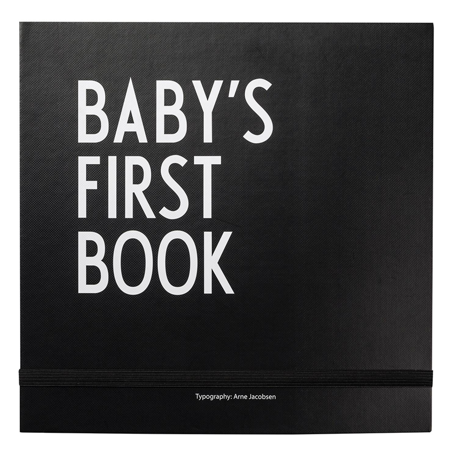 Design Letters Baby´s First Book, Musta