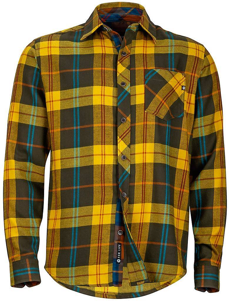 Marmot Anderson Flannel LS Olive XXL