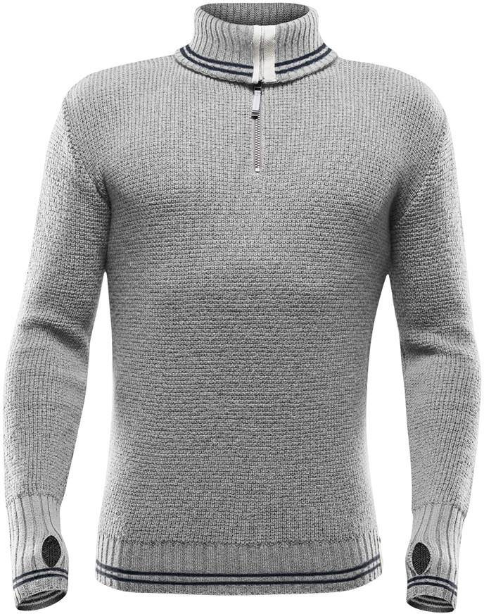 Devold Randers Zip Neck Men Vaaleanharmaa XL