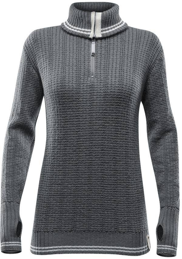 Devold Randers Zip Neck Women Harmaa S