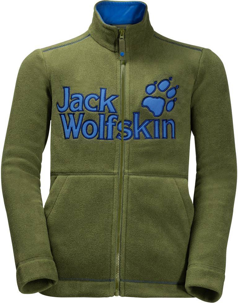 Jack Wolfskin Vargen Jacket Kids Cypress Green 140