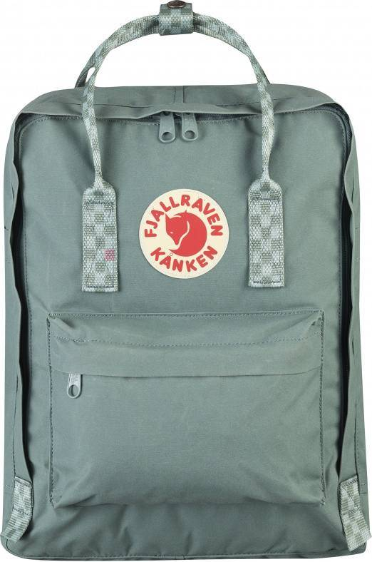 Fjällräven Kånken Frost Green / Chess Pattern