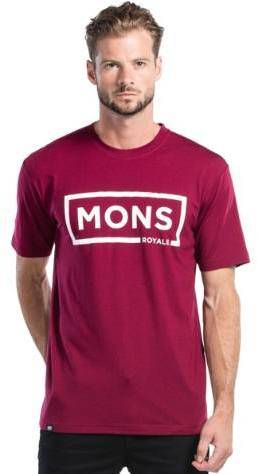 Mons Royale Icon tee Plum S