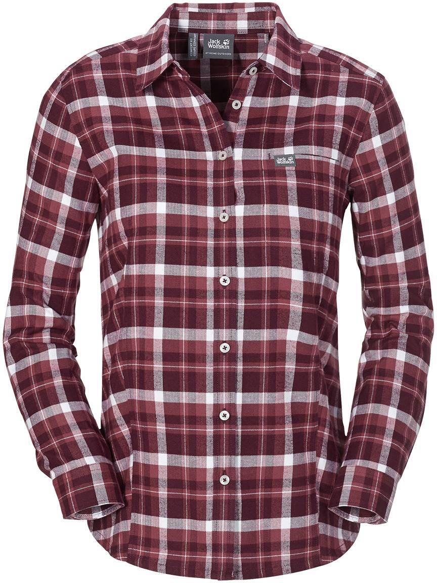 Jack Wolfskin West Brook OC LS Shirt Women Berry L