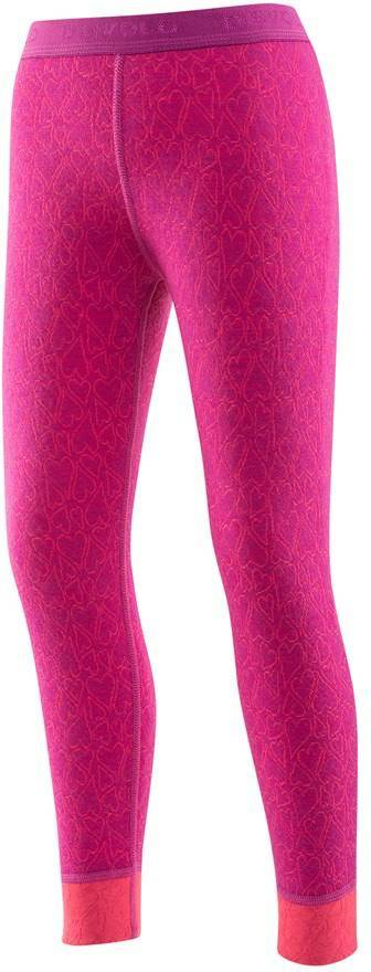 Devold Active Happy Heart Kid Long Johns Orchid 128