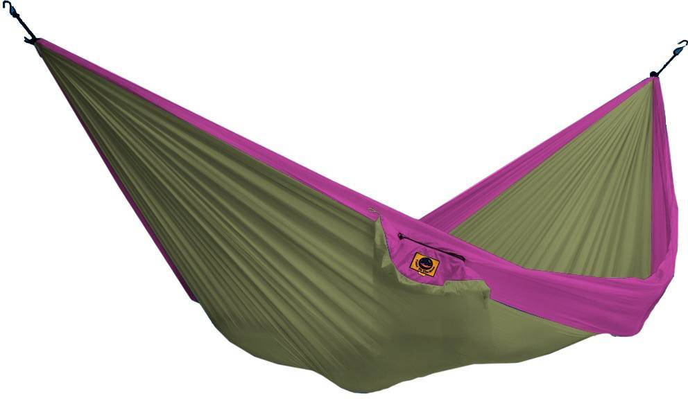 Ticket To The Moon Hammock Single Khaki/pinkki
