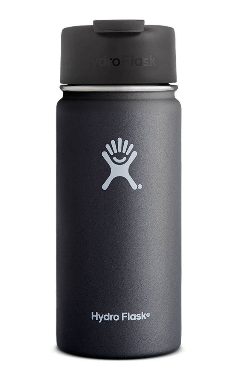 Hydro Flask 16 Oz Wide, Flip Lid Musta