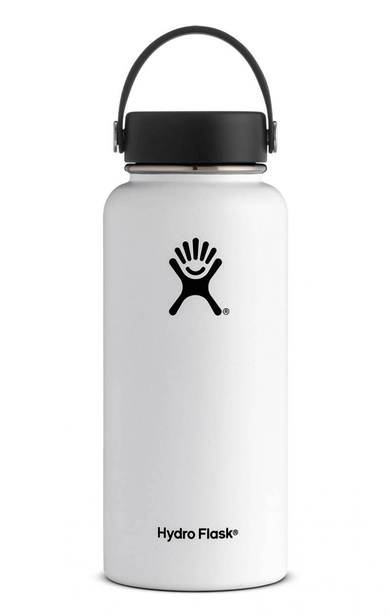 Hydro Flask 32 Oz Wide Mouth Flex Cap Valkoinen