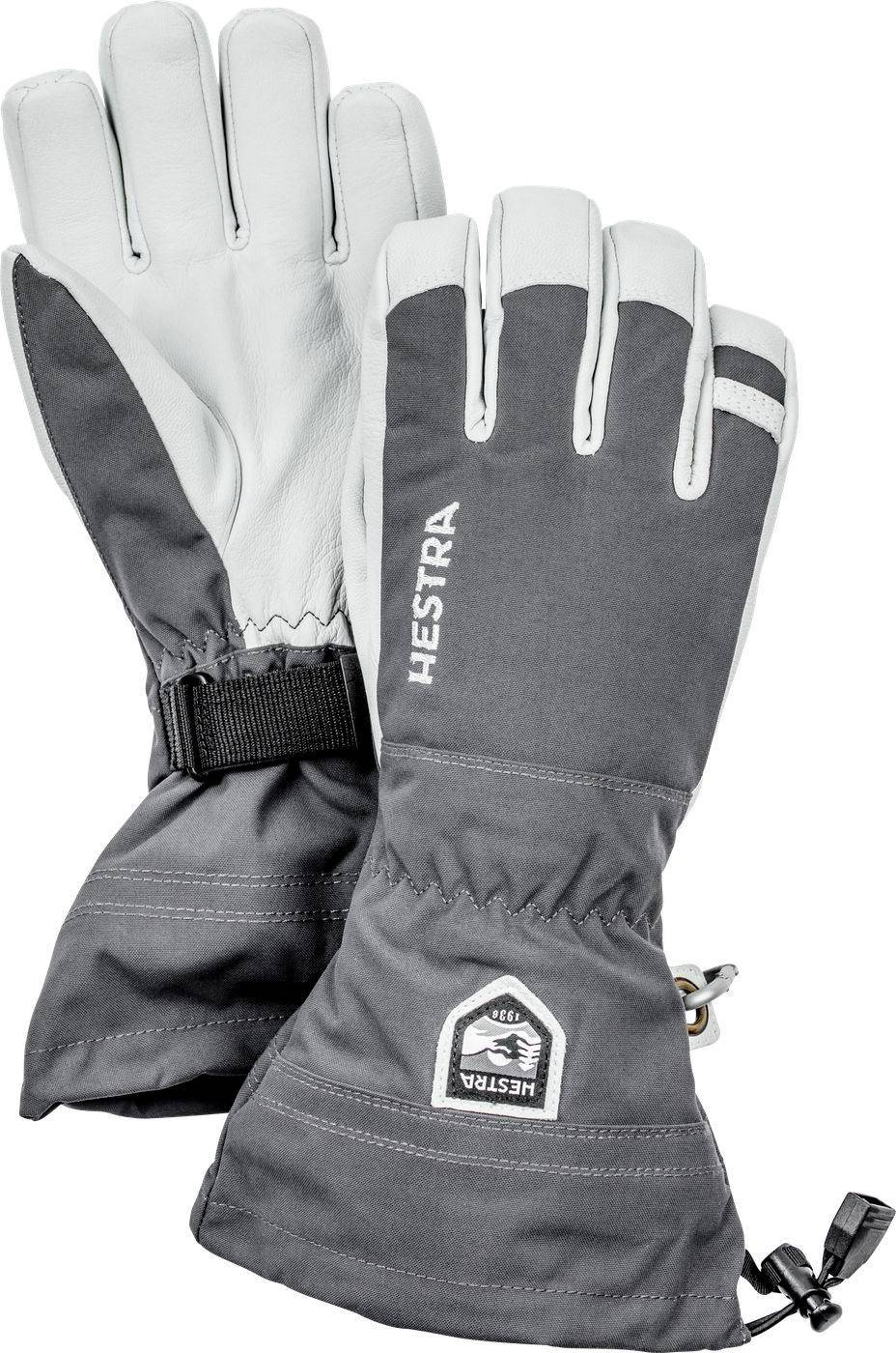 Hestra Army Leather Heli Ski Glove Harmaa 12
