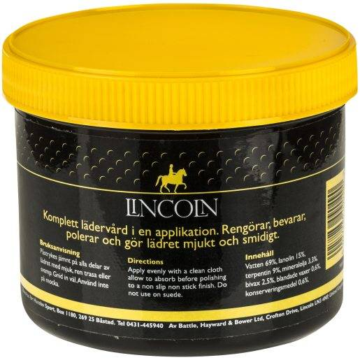 Leathercreme Lincoln 400 g, satulavoide