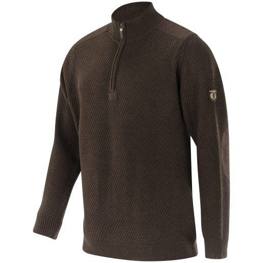 Gabriel Cotton Pullover Navy BROWN