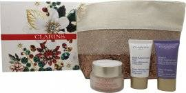 Clarins Extra-Firming Collection Gift Set 50ml Day Cream + 15ml Night Cream + 15ml Face Mask + Makeup Bag