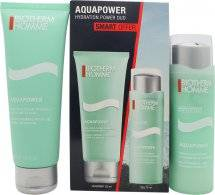 Biotherm Homme Aquapower Gift Set 75ml Face Gel + 125ml Face Cleanser
