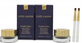 Estee Lauder Estée Lauder Double Wear Stay-in-Place Gel Eyeliner Duo Set 2 x Black Pots