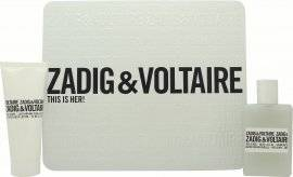 Zadig & Voltaire This is Her Gift Set 50ml EDP + Yellow Pouch