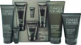 Clinique For Men Gift Set 200ml Oil-Control Face Wash + 100ml Face Scrub + 100ml Oil-Control Mattifying Moisturiser + 5ml Anti-Fatigue Cooling Eye Gel