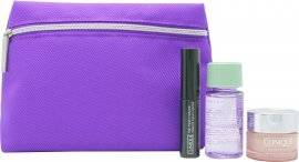 Clinique Gift Set 7ml High Impact Mascara - Black + 5ml All About Eyes Eye Cream + 30ml Make-Up Remover