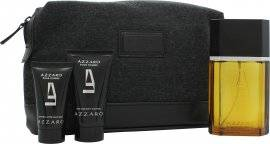 Azzaro Pour Homme Gift Set 100ml EDT + 50ml Hair & Body Shampoo + 30ml Aftershave Balm + Bag
