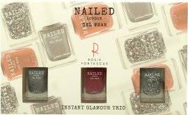 Nailed London Gel Wear Instant Glamour Gift Set 3 x 10ml Nail Polish (Knight Rider + London Conundrum + Rosie