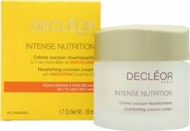 Decleor Intense Nutrition Nourishing Cocoon Cream with Marjoram Essential Oil 50ml Dry to Very Dry Skin