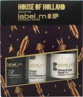 Label.m Honey & Oat Gift Set 300ml Shampoo + 300ml Conditioner + 120ml Hair Mask