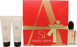 Giorgio Armani Si Gift Set 50ml EDP + 75ml Shower Gel + 75ml Body Lotion