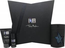 Thierry Mugler A*Men Gift Set 100ml EDT Rubber Flask + 50ml Hair & Body Shampoo + 20ml Deodorant Stick