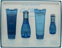 Davidoff Cool Water Gift Set 50ml EDT + 75ml Body Lotion + 75ml Shower Gel + 15ml EDT