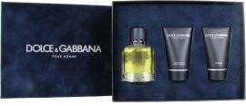 Dolce & Gabbana Pour Homme Gift Set 125ml EDT + 100ml Aftershave Balm + 50ml Shower Gel