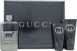 Gucci Guilty Pour Homme Gift Set  Travel Collection 90ml EDT + 50ml A/Shave Balm + 50ml All Over Shampoo