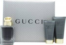 Gucci Made to Measure Gift Set 50ml EDT + 50ml Aftershave Balm + 50ml Shower Gel