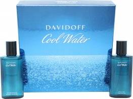 Davidoff Cool Water Gift Set 75ml EDT Spray + 75ml Aftershave
