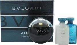 Bvlgari Aqva Pour Homme Gift Set 50ml EDT + 40ml Aftershave Balm + 40ml Shower Gel
